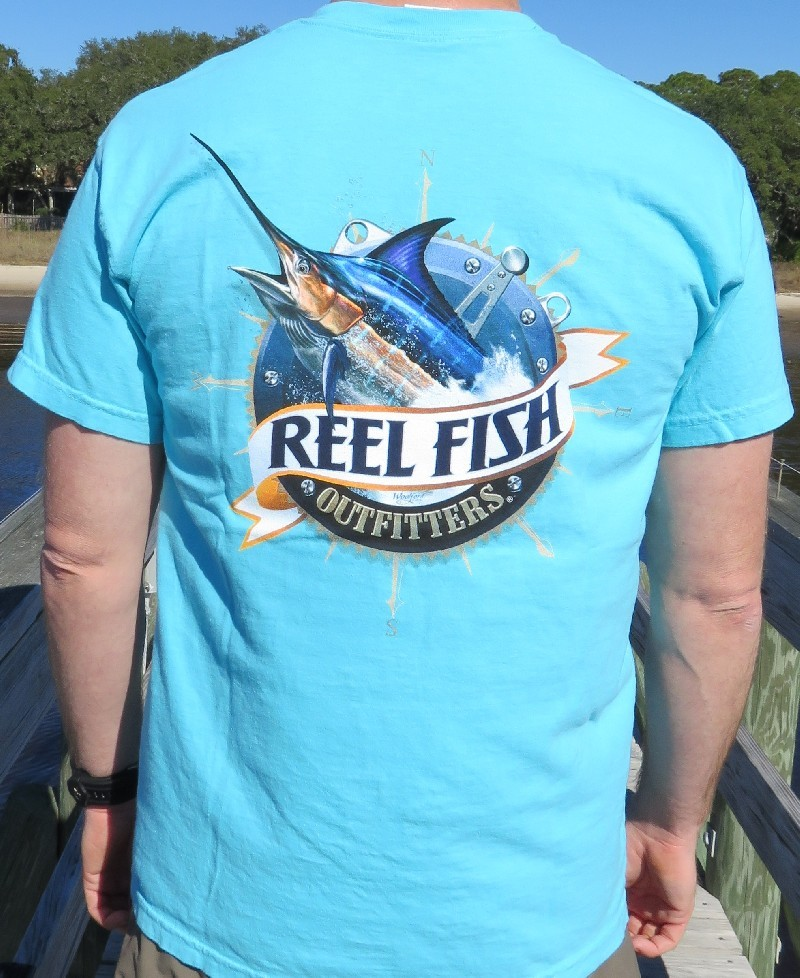 Reel fish outfitters reel fish comfort colors classic for Logo fishing shirts