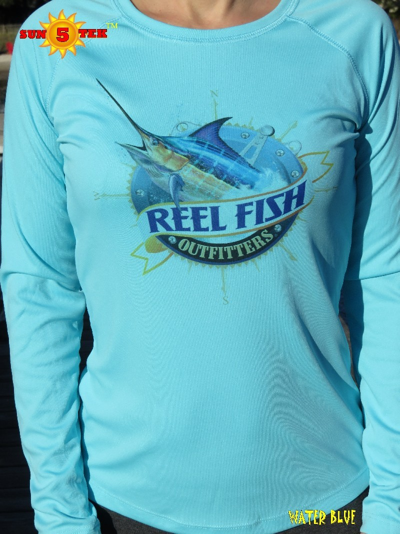 Reel fish outfitters sun tek 5 pro series water blue for Professional fishing gear